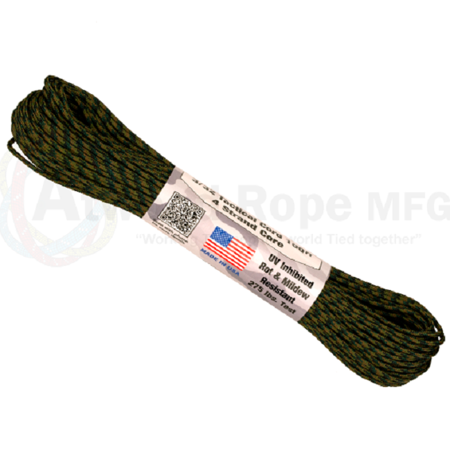 275 Paracord - US Made - Woodland Camouflage