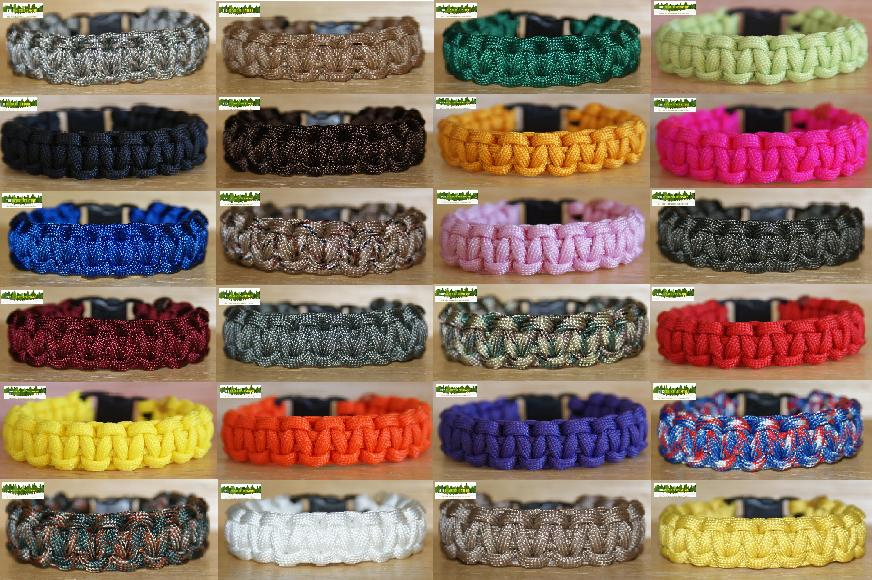 550 Paracord Bracelet - Single Stitch - Great choice of colours and sizes