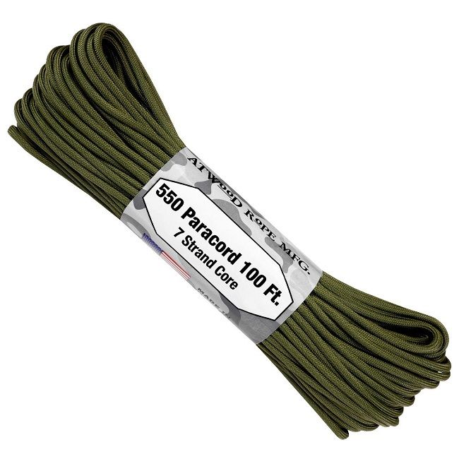550 Paracord US Made GSA Compliant - Olive Green