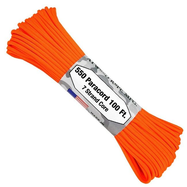550 Paracord US Made GSA Compliant - Safety (Neon) Orange