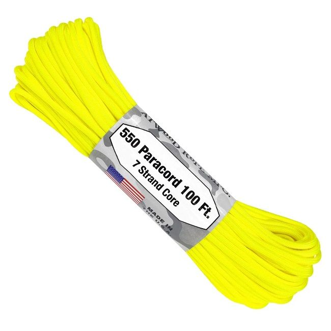 550 Paracord US Made GSA Compliant - Safety (Neon) Yellow