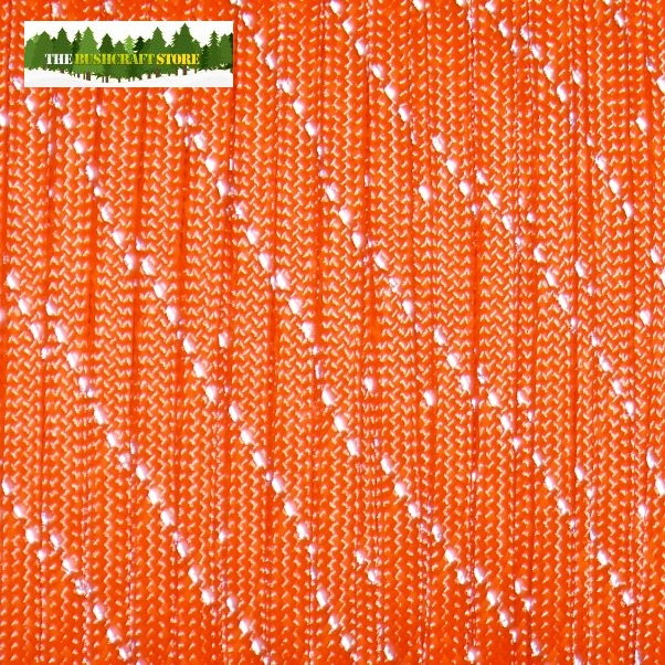 550 Reflective Paracord - 7 Strand Core - Made in the USA - Orange