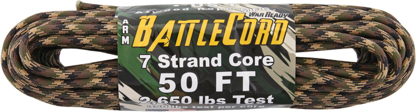 ARM BattleCord - Ground War 50ft (15m) - Regular paracord on steroids - 2,650lb Breaking Strain!!!
