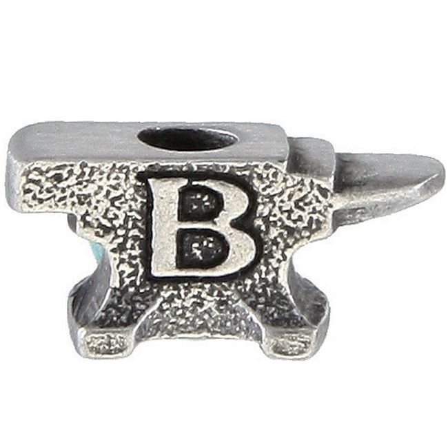 Buck Anvil Pewter Bead
