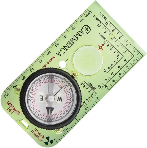 Cammenga Protractor Baseplate Tritium Compass