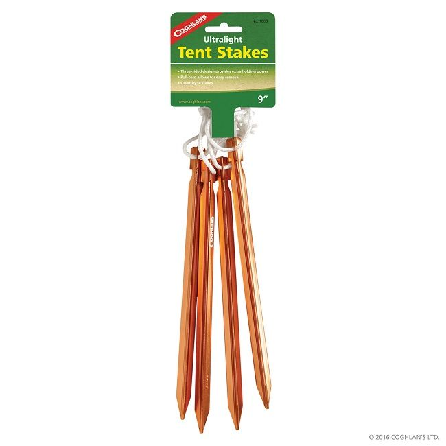 "Coghlan Ultralight 9"" Tent Stakes"