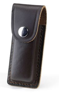 Dark Brown Leather Folding Knife Sheath - Various Sizes