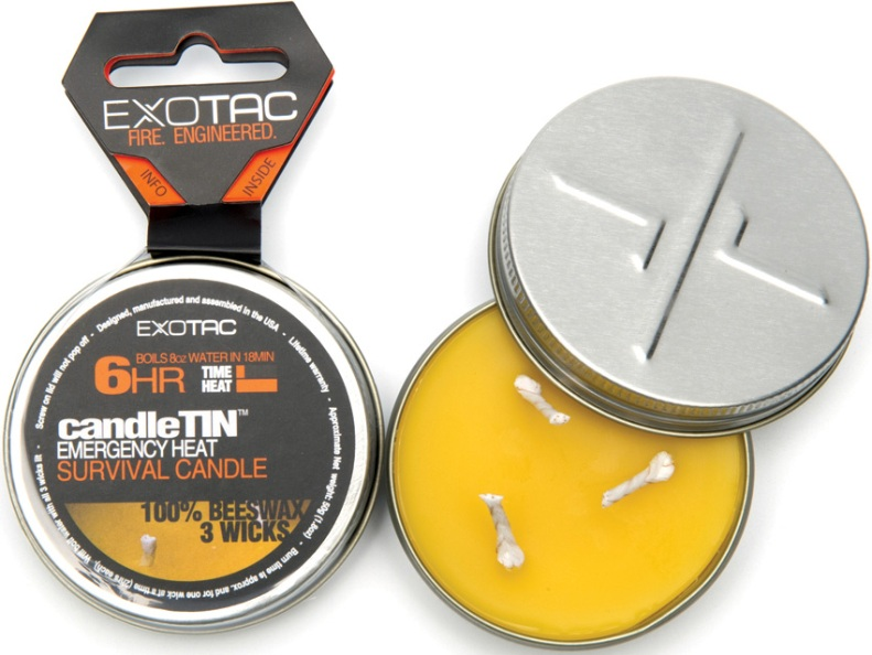 Exotac Candle Tin Emergency Heat Survival Candle