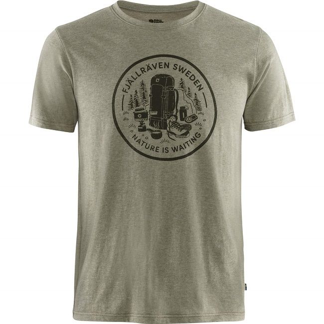 Fjallraven  Fikapaus T-Shirt - Light Olive