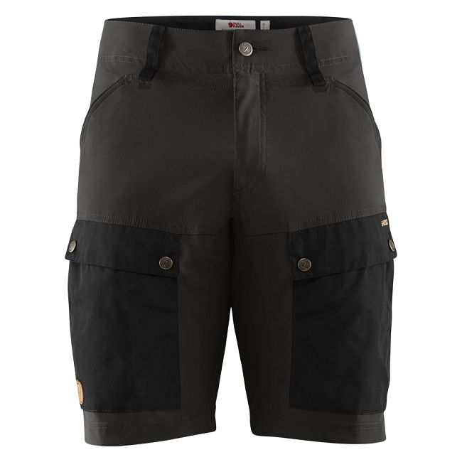 Fjallraven Keb Shorts - Black/Stone Grey