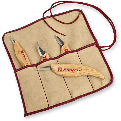 Flexcut 4 Piece Carving Knife Set - Some of the most useful carving tools