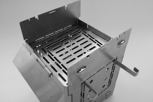 Folding Firebox Stove Adjustable Fire Grate