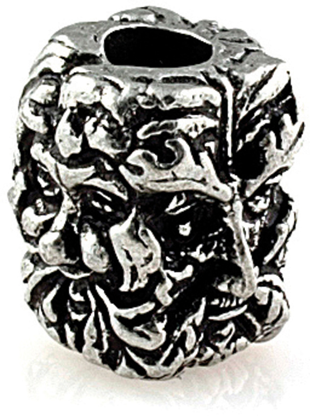 Green Man Pewter Bead