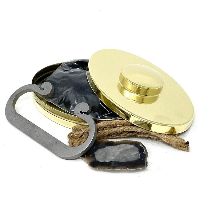 Hudson's Bay Flint & Steel Firelighting Kit with built in Magnifying Glass