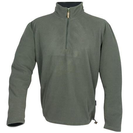 Lightweight Olive Green Half Zip Fleece Top