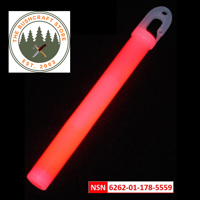 Lumica Military Issue Safety Light Sticks - Red - Singles, 5's or 10's