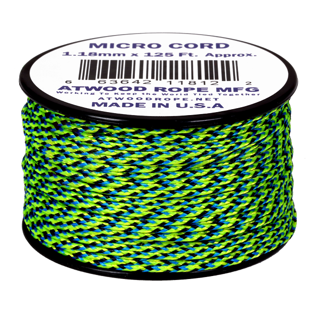 Micro Cord - 1.18mm Micro Paracord - 125ft - Aquatica