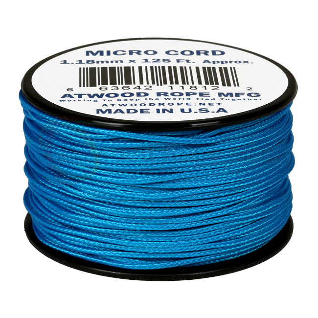 Micro Cord - 1.18mm Micro Paracord - 125ft - Blue