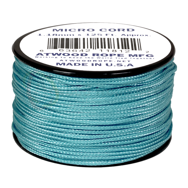 Micro Cord - 1.18mm Micro Paracord - 125ft - Carolina Blue