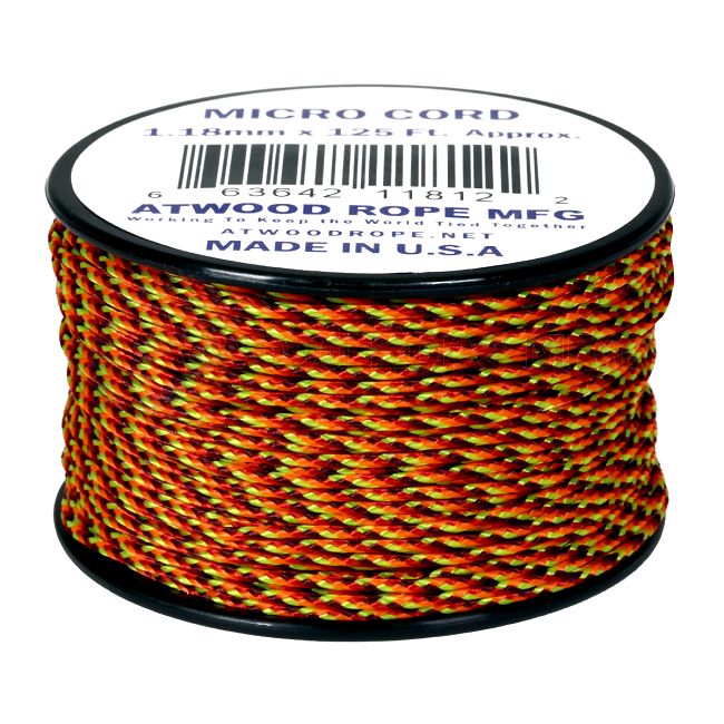 Micro Cord - 1.18mm Micro Paracord - 125ft - Fireball