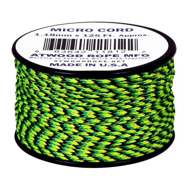 Micro Cord - 1.18mm Micro Paracord - 125ft - Gecko