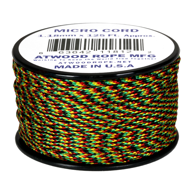 Micro Cord - 1.18mm Micro Paracord - 125ft - Jamaican