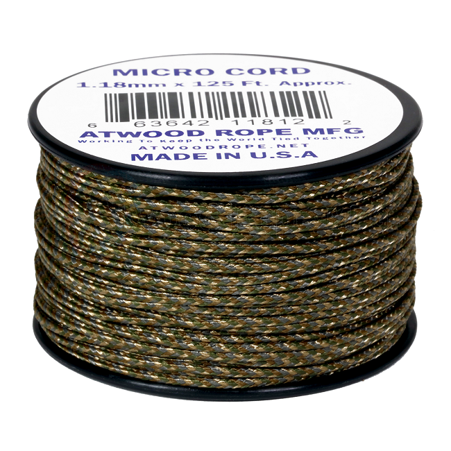 Micro Cord - 1.18mm Micro Paracord - 125ft - Multicam