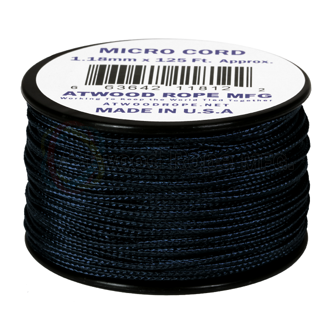 Micro Cord - 1.18mm Micro Paracord - 125ft - Navy Blue