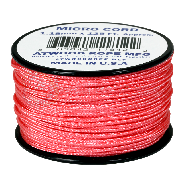 Micro Cord - 1.18mm Micro Paracord - 125ft - Pink
