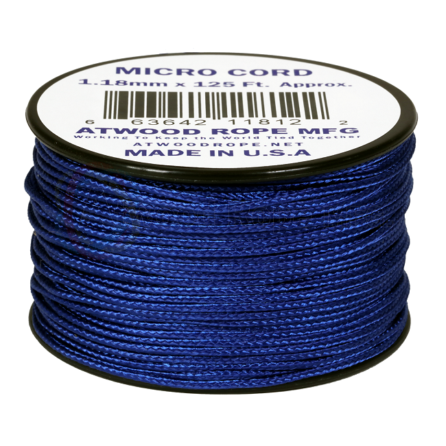 Micro Cord - 1.18mm Micro Paracord - 125ft - Royal Blue