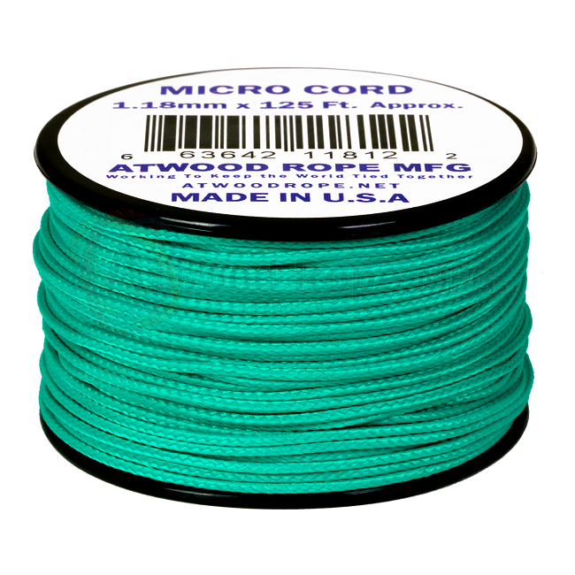 Micro Cord - 1.18mm Micro Paracord - 125ft - Teal