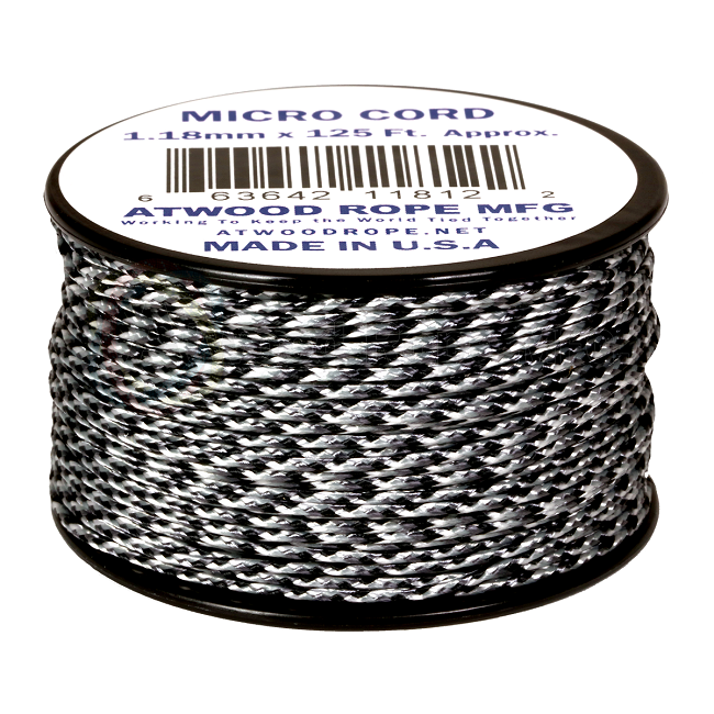 Micro Cord - 1.18mm Micro Paracord - 125ft - Urban Camo