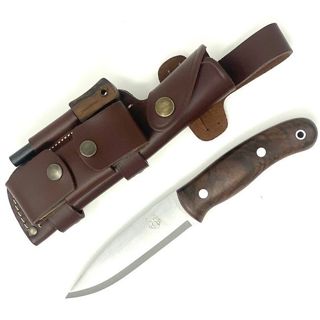 Mk II TBS Boar Bushcraft Knife - DC4 & Firesteel Edition  - Turkish Walnut