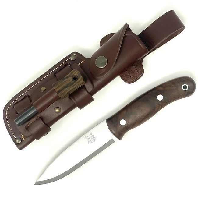 Mk II TBS Boar Bushcraft Knife - Firesteel Edition - Turkish Walnut