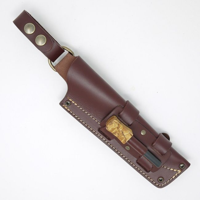 Mk II TBS Leather Nordic Dangler Type Knife Sheath with Firesteel Attachment - REGULAR