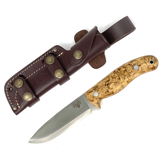 Mk II TBS Timberwolf Bushcraft Knife - Curly Birch