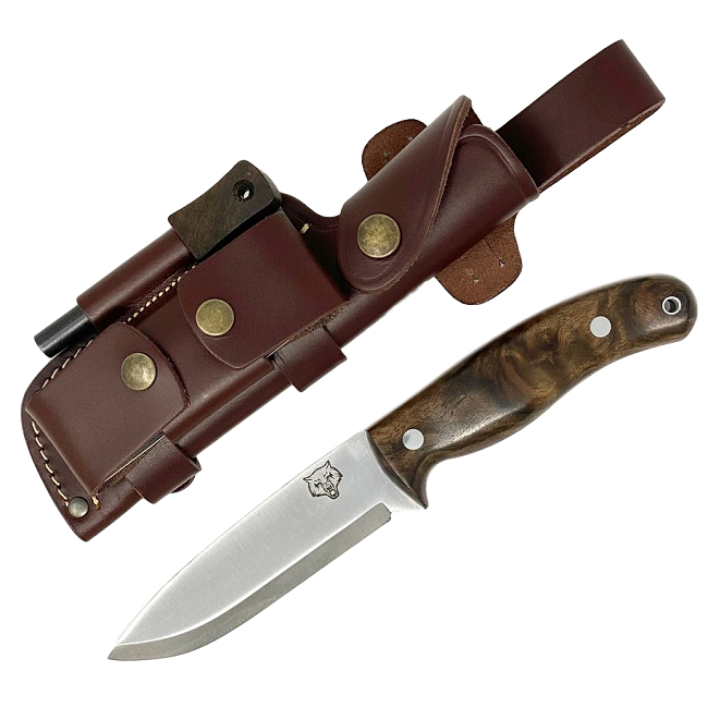 Mk II TBS Timberwolf Bushcraft Knife - DC4 & Firesteel Edition - Turkish Walnut