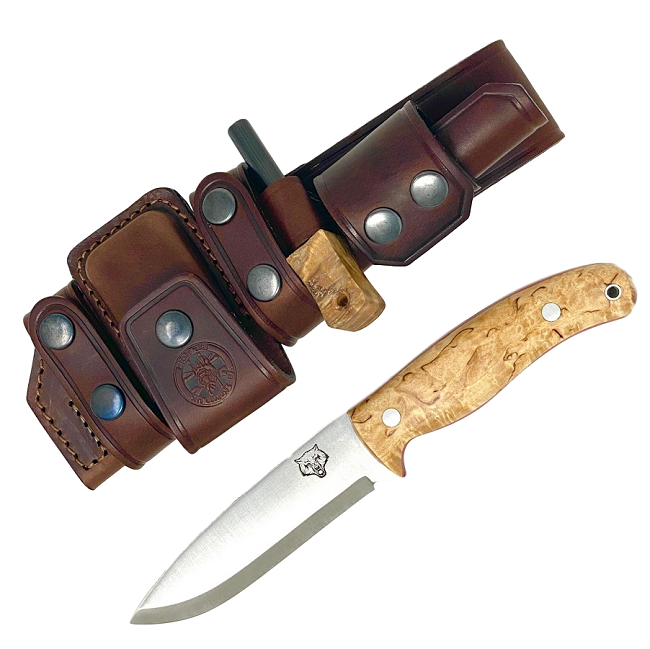 Mk II TBS Timberwolf Bushcraft Knife - DeLuxe Sheath Edition- CB