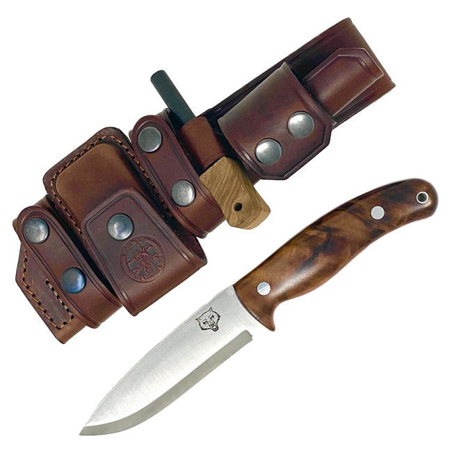 Mk II TBS Timberwolf Bushcraft Knife - DeLuxe Sheath Edition - TW