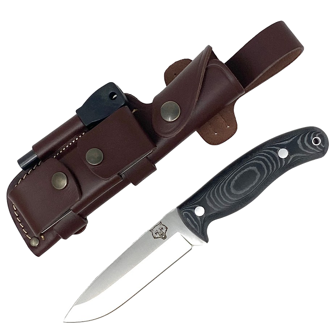 Mk II TBS Timberwolf Camp Knife - DC4 & Firesteel Edition - Black Micarta