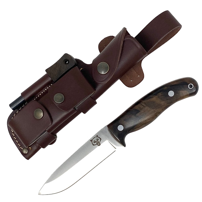 Mk II TBS Timberwolf Camp Knife - DC4 & Firesteel Edition - Turkish Walnut