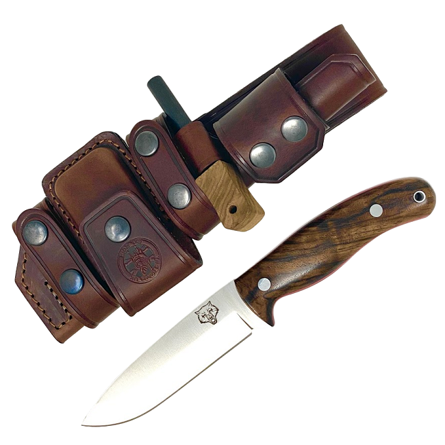 Mk II TBS Timberwolf Camp Knife - DeLuxe Sheath Edition- TW