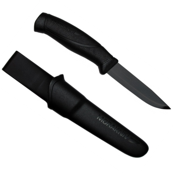 Mora 860 (Stainless) Clipper Companion Knife - Black with Black Blade