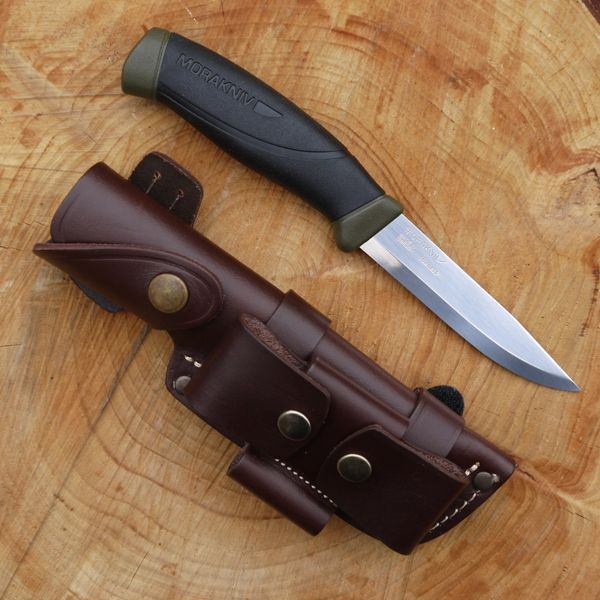 Mora Knife with DC4 & TBS Firesteel Combo in a TBS Leather Sheath - Choose your model