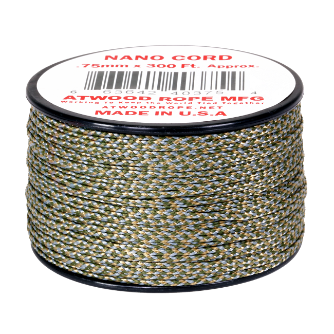 Nano Cord - 0.75mm x 300 Feet (100m) of Nano Paracord - ACU
