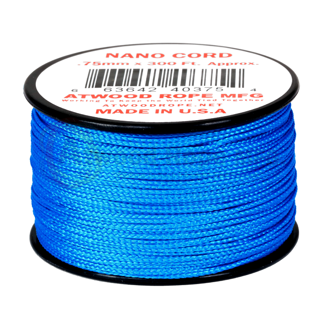 Nano Cord - 0.75mm x 300 Feet (100m) of Nano Paracord - Blue