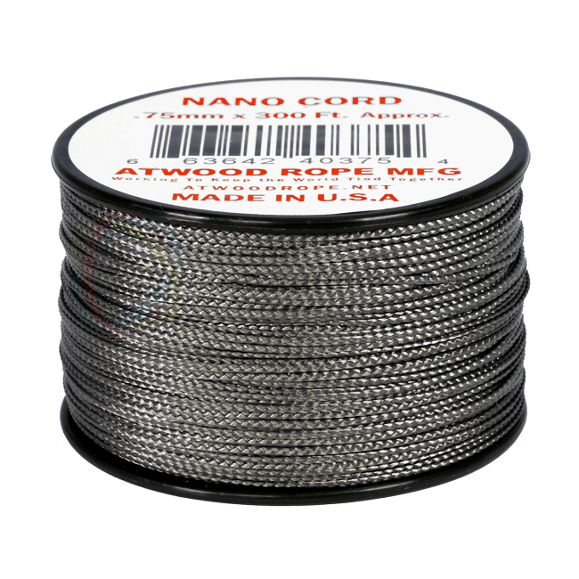 Nano Cord - 0.75mm x 300 Feet (100m) of Nano Paracord - Graphite