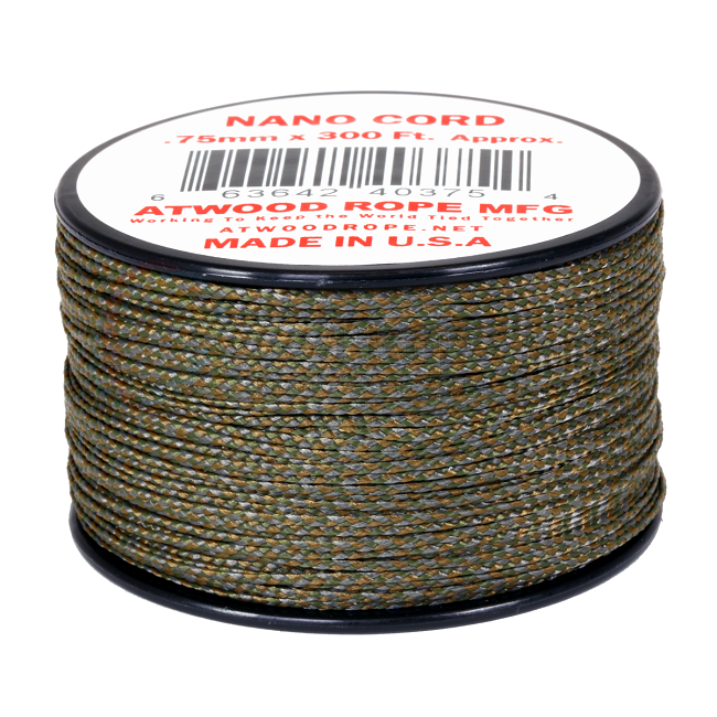 Nano Cord - 0.75mm x 300 Feet (100m) of Nano Paracord - Multicam