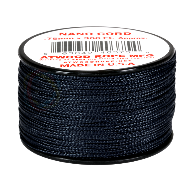 Nano Cord - 0.75mm x 300 Feet (100m) of Nano Paracord - Navy Blue