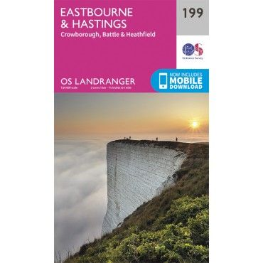 OS Landranger Map - 199 - Eastbourne & Hastings, Battle & Heathfield